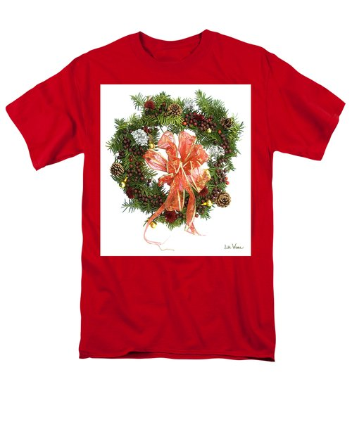 Men's T-Shirt  (Regular Fit) featuring the digital art Wreath With Bow by Lise Winne