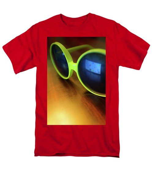 Men's T-Shirt  (Regular Fit) featuring the photograph Yellow Goggles With Reflection by Carlos Caetano