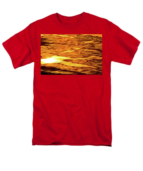 Yellow Light On Water  Men's T-Shirt  (Regular Fit) by Lyle Crump