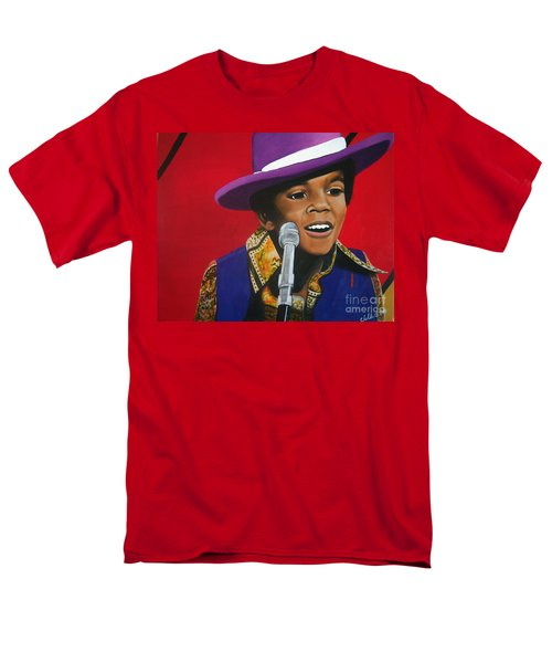 Young Michael Jackson Singing Men's T-Shirt  (Regular Fit) by Chelle Brantley