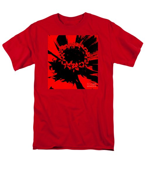 Men's T-Shirt  (Regular Fit) featuring the photograph Zinnia Crown by Jeanette French