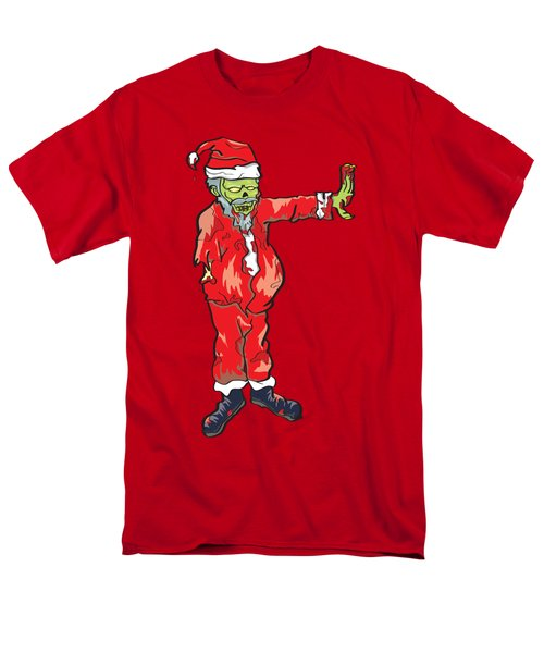 Men's T-Shirt  (Regular Fit) featuring the drawing Zombie Santa Claus Illustration by Jorgo Photography - Wall Art Gallery