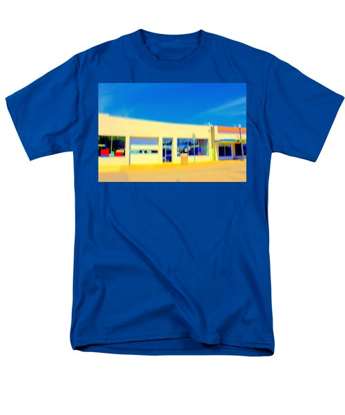 Men's T-Shirt  (Regular Fit) featuring the mixed media   Hopper Garage by Terence Morrissey