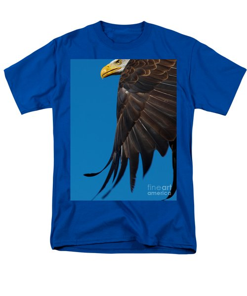 Men's T-Shirt  (Regular Fit) featuring the photograph Close-up Of An American Bald Eagle In Flight by Nick  Biemans