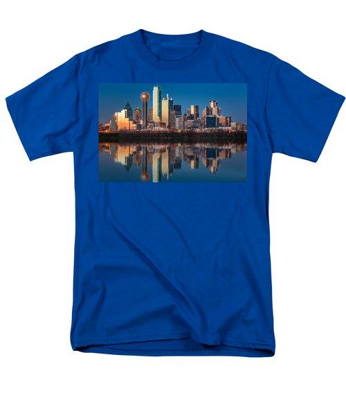 Dallas Skyline Men's T-Shirt  (Regular Fit) by Mihai Andritoiu