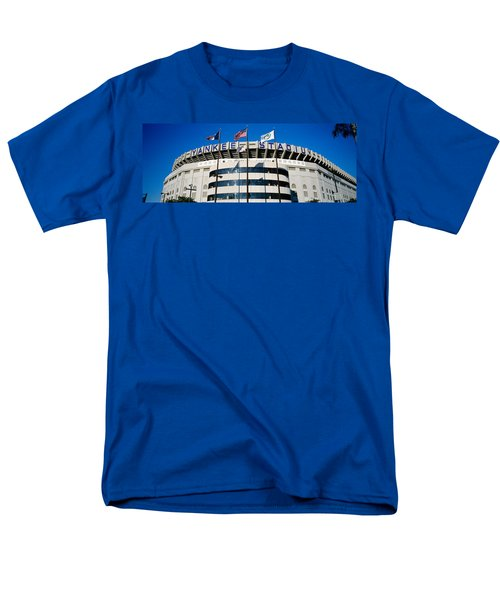 Flags In Front Of A Stadium, Yankee Men's T-Shirt  (Regular Fit)
