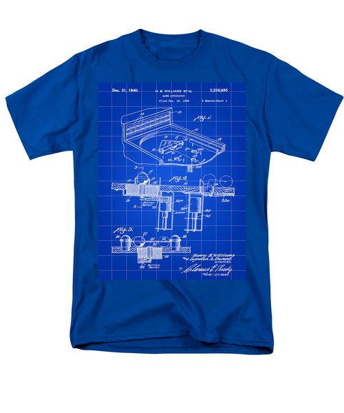 Pinball Machine Patent 1939 - Blue Men's T-Shirt  (Regular Fit) by Stephen Younts