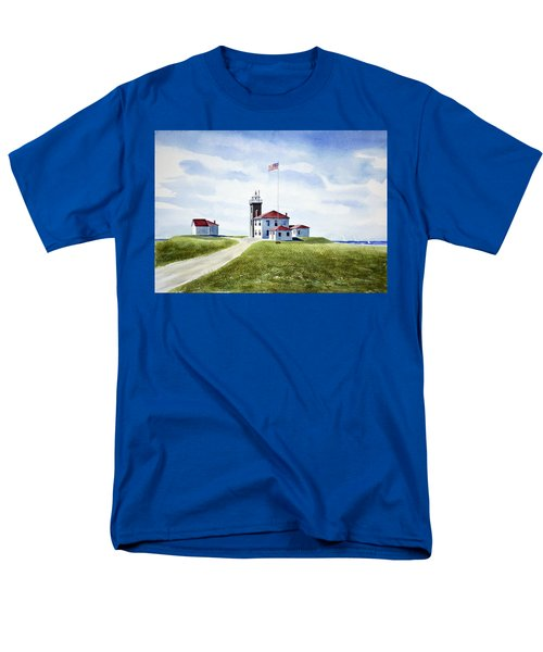 Watch Hill Ri Lighthouse Men's T-Shirt  (Regular Fit) by Joan Hartenstein