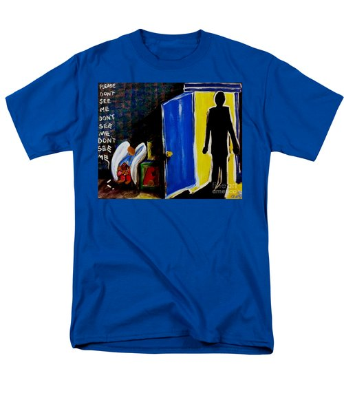 Men's T-Shirt  (Regular Fit) featuring the painting Don't See Me by Jackie Carpenter