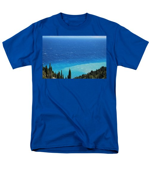 green and blue Erikousa Men's T-Shirt  (Regular Fit) by George Katechis