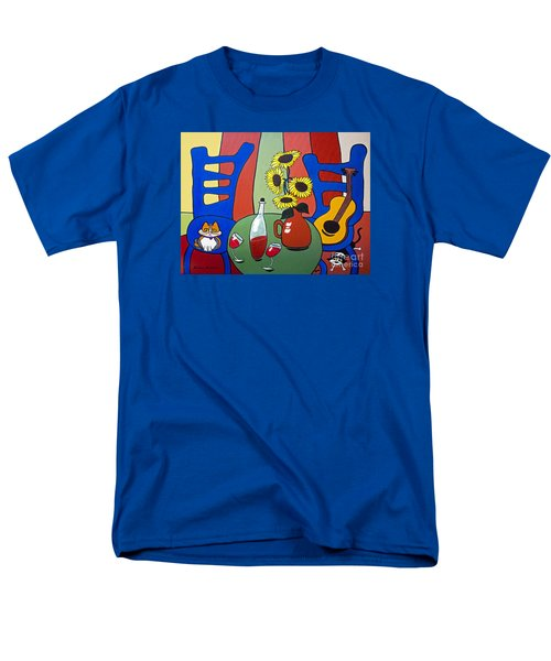 Men's T-Shirt  (Regular Fit) featuring the painting Oreo by Barbara McMahon