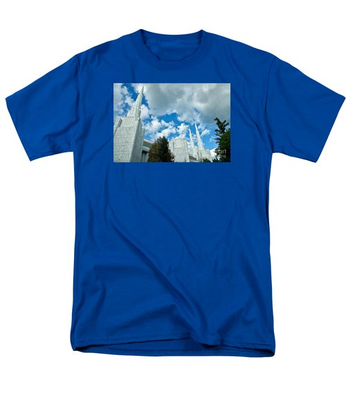 Men's T-Shirt  (Regular Fit) featuring the photograph Portland Oregon Lds Temple by Nick  Boren