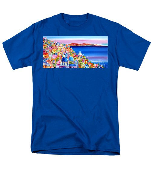 A Bright Day In Santorini Greece Men's T-Shirt  (Regular Fit)