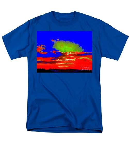 Abstract Sunset Orange Blue Green And So On Men's T-Shirt  (Regular Fit)