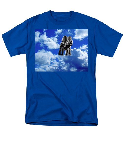 Men's T-Shirt  (Regular Fit) featuring the photograph Allen And Steve In Clouds by Ben Upham