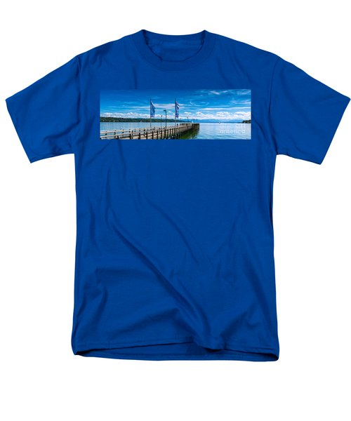Men's T-Shirt  (Regular Fit) featuring the photograph Ammersee - Lake In Bavaria by Juergen Klust