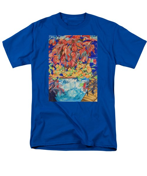 Men's T-Shirt  (Regular Fit) featuring the painting An Autumn Floral by Esther Newman-Cohen