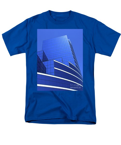 Men's T-Shirt  (Regular Fit) featuring the photograph Architectural Blues by Ann Horn