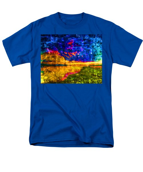 Men's T-Shirt  (Regular Fit) featuring the painting As The World Ends by Joe Misrasi