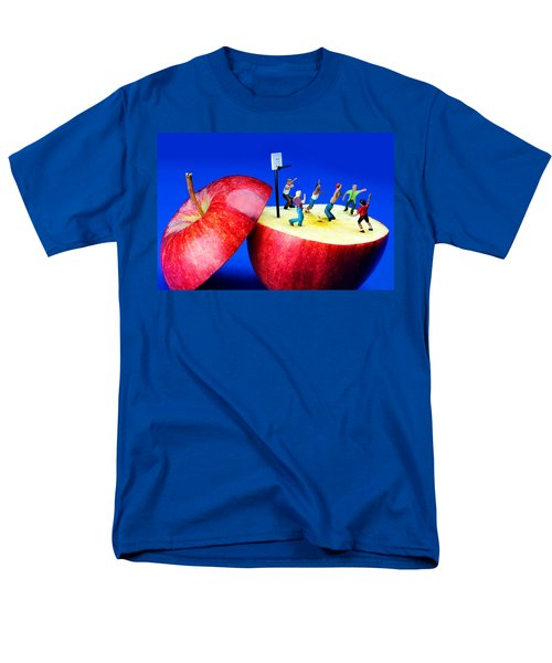 Basketball Games On The Apple Little People On Food Men's T-Shirt  (Regular Fit) by Paul Ge