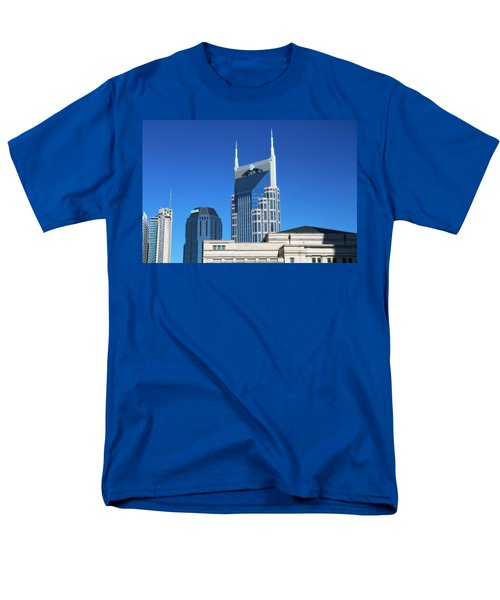Batman Building And Nashville Skyline Men's T-Shirt  (Regular Fit)