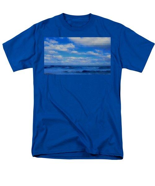 Beach Through Artificial Eyes Men's T-Shirt  (Regular Fit) by David Mckinney