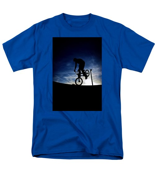Men's T-Shirt  (Regular Fit) featuring the photograph Bike Silhouette by Joel Loftus