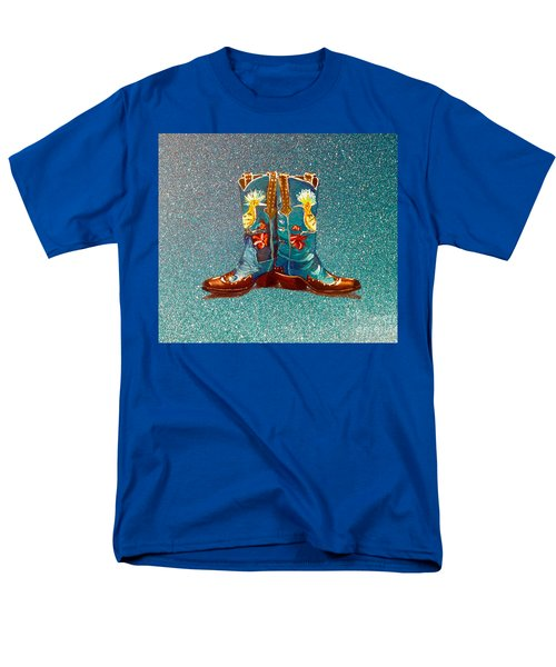 Blue Boots Men's T-Shirt  (Regular Fit)