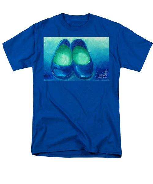 Men's T-Shirt  (Regular Fit) featuring the painting Blue Flats by Marisela Mungia