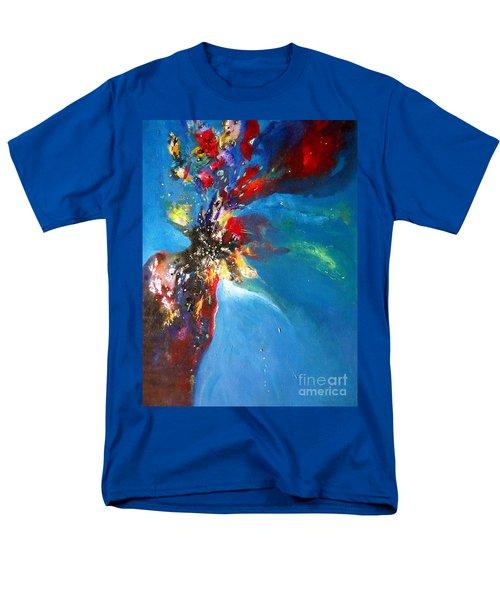 Blue Harmony  Men's T-Shirt  (Regular Fit) by Sanjay Punekar