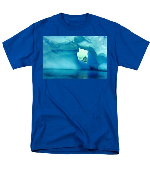 Blue Iceberg Antarctica Men's T-Shirt  (Regular Fit) by Amanda Stadther