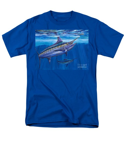 Blue Marlin Bite Off001 Men's T-Shirt  (Regular Fit) by Carey Chen