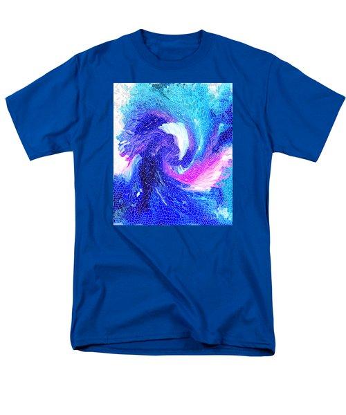 Blue Vortex Men's T-Shirt  (Regular Fit) by Mariarosa Rockefeller