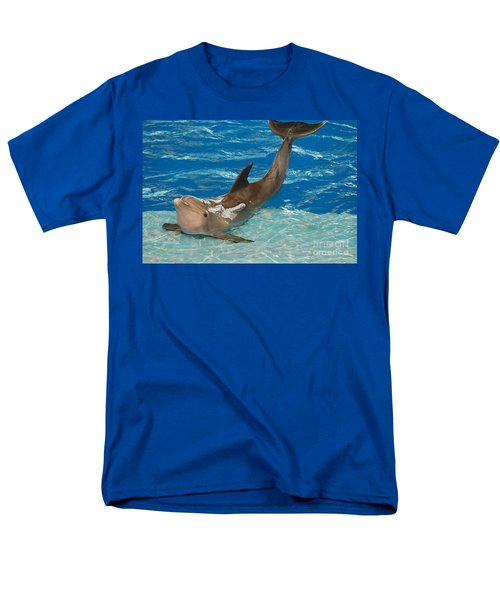 Bottlenose Dolphin Men's T-Shirt  (Regular Fit) by DejaVu Designs