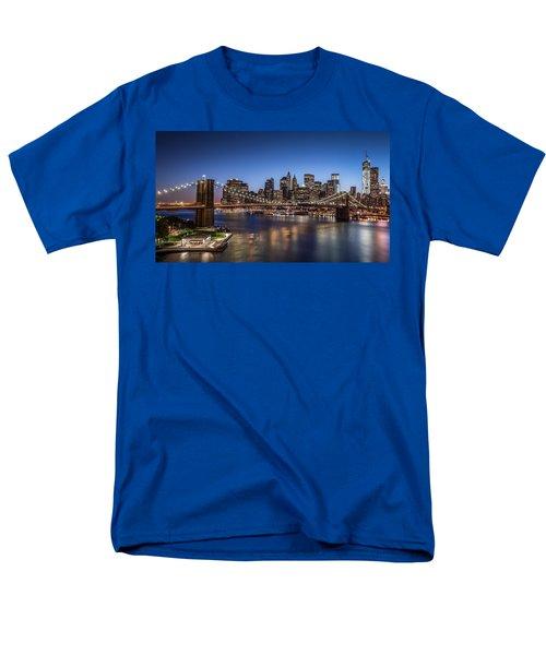Men's T-Shirt  (Regular Fit) featuring the photograph Brooklyn Bridge by Mihai Andritoiu