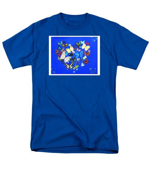 Butterfly Heart Men's T-Shirt  (Regular Fit) by Anne Marie Brown