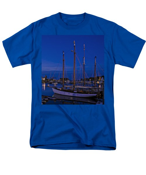 Camden Harbor Maine At 4am Men's T-Shirt  (Regular Fit) by Marty Saccone