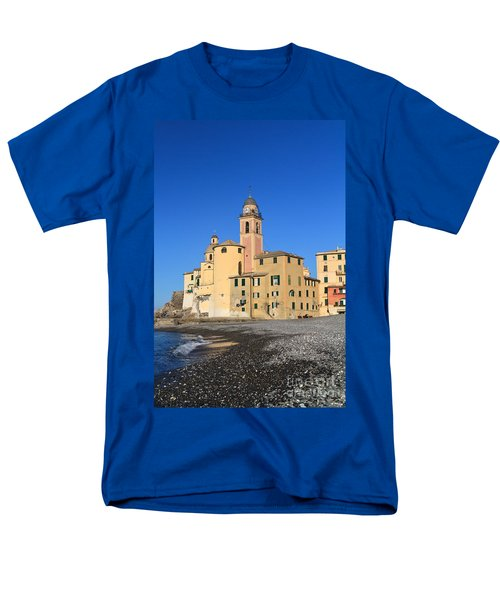 Men's T-Shirt  (Regular Fit) featuring the photograph Camogli Seaside And Church by Antonio Scarpi