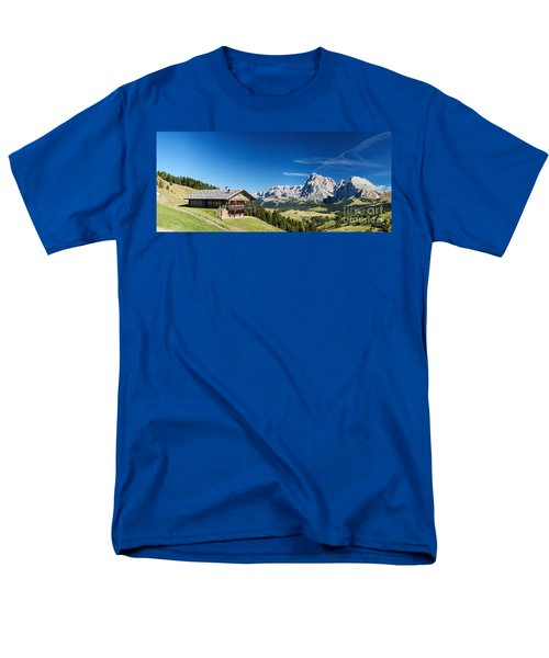 Men's T-Shirt  (Regular Fit) featuring the photograph Chalet In South Tyrol by Carsten Reisinger
