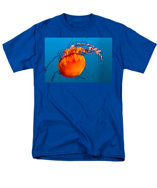 Men's T-Shirt  (Regular Fit) featuring the photograph Close Up Of A Sea Nettle Jellyfis by Eti Reid