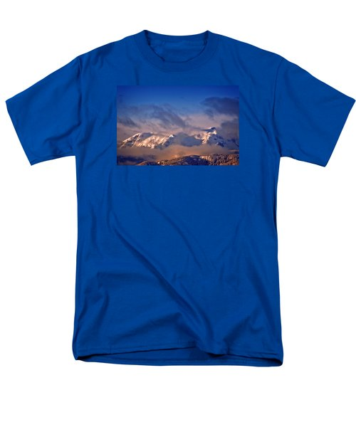 Men's T-Shirt  (Regular Fit) featuring the photograph Comox Glacier And Morning Mist by Richard Farrington