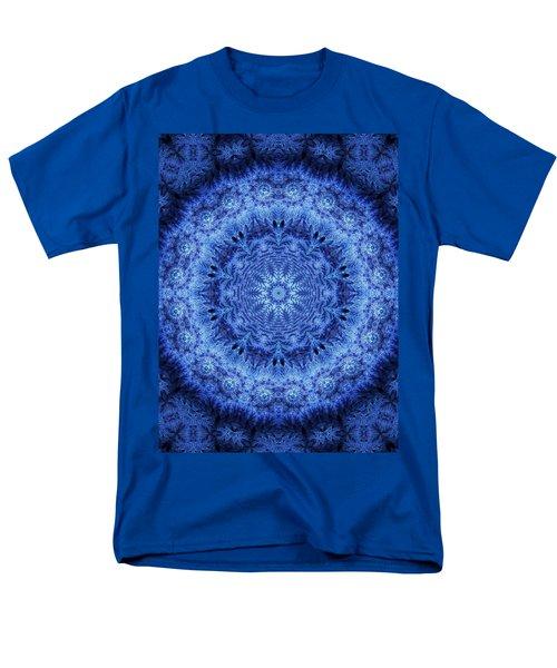 Men's T-Shirt  (Regular Fit) featuring the digital art Cool Down Series #2 Frozen by Lilia D