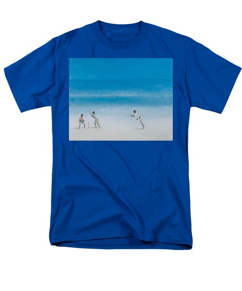 Cricket On The Beach, 2012 Acrylic On Canvas Men's T-Shirt  (Regular Fit) by Lincoln Seligman