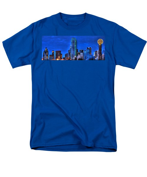 Dallas Skyline Hd Men's T-Shirt  (Regular Fit) by Jonathan Davison