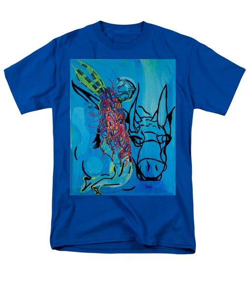 Dinka Groom - South Sudan Men's T-Shirt  (Regular Fit) by Gloria Ssali