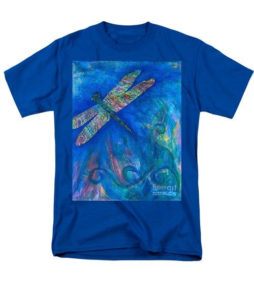 Dragonfly Flying High Men's T-Shirt  (Regular Fit) by Denise Hoag