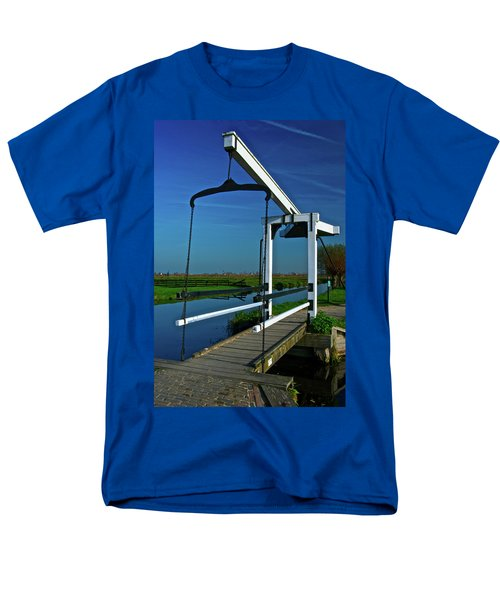 Drawbridge At Zaanse Schans Men's T-Shirt  (Regular Fit) by Jonah  Anderson