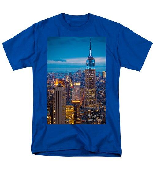 Empire State Blue Night Men's T-Shirt  (Regular Fit) by Inge Johnsson