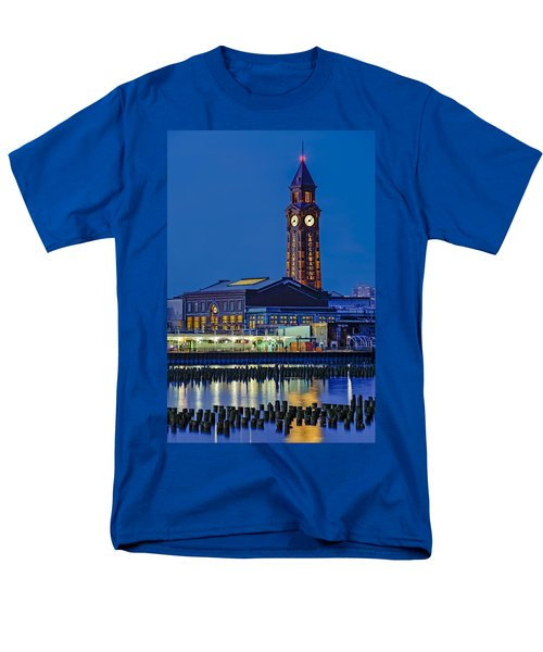 Erie Lackawanna Terminal Hoboken Men's T-Shirt  (Regular Fit) by Susan Candelario