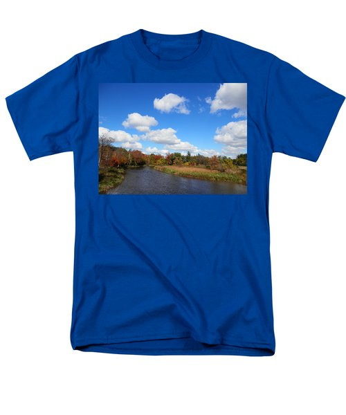 Fall At The Credit River Men's T-Shirt  (Regular Fit) by Pema Hou